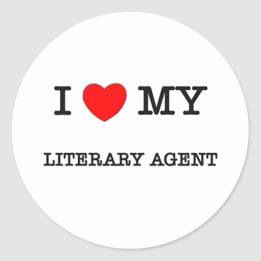 I Love My LITERARY AGENT Classic Round Sticker