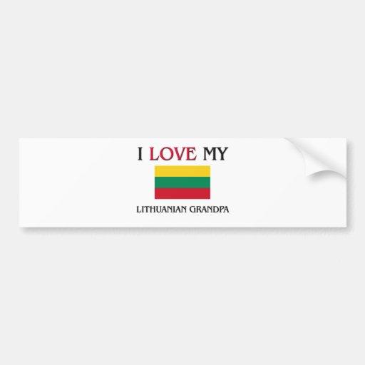 I Love My Lithuanian Grandpa Bumper Stickers