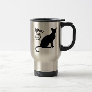 I Love My Little Black Cat Travel Mug