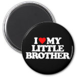 I LOVE MY LITTLE BROTHER 2 INCH ROUND MAGNET