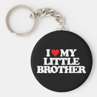 I LOVE MY LITTLE BROTHER BASIC ROUND BUTTON KEYCHAIN