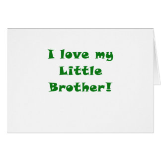 I Love my Little Brother Card