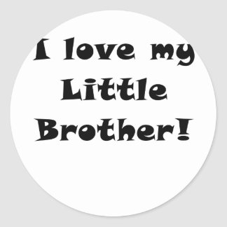 I Love my Little Brother Classic Round Sticker