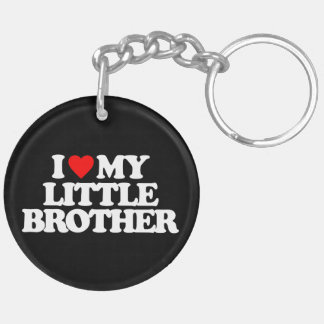 I LOVE MY LITTLE BROTHER Double-Sided ROUND ACRYLIC KEYCHAIN