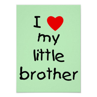 I Love My Little Brother Poster