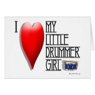 I LOVE MY LITTLE DRUMMER BOY (blank inside) Card
