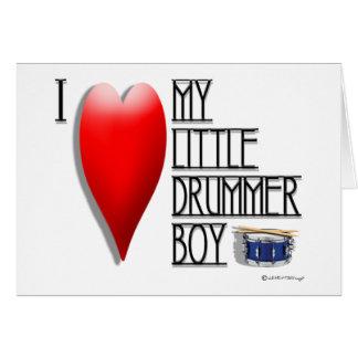 I LOVE MY LITTLE DRUMMER GIRL  (blank inside) Card