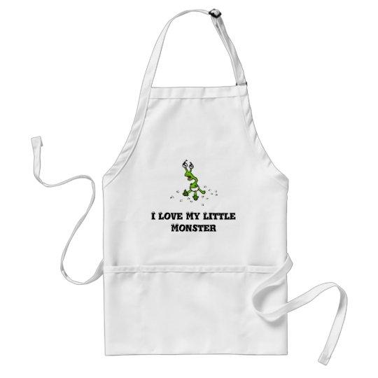 I love my little monster adult apron