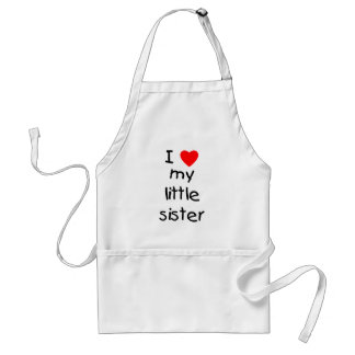 I Love My Little Sister Adult Apron