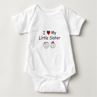 I Love My Little Sister! Baby Bodysuit