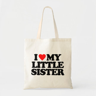 I LOVE MY LITTLE SISTER CANVAS BAGS