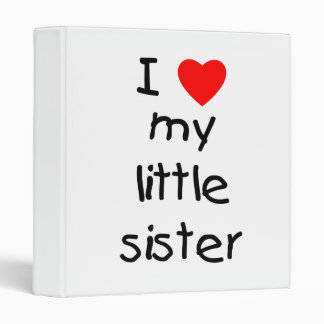 I Love My Little Sister Binder