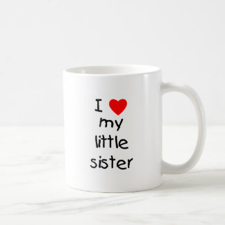 I Love My Little Sister Coffee Mug