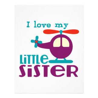 I love my Little Sister Letterhead