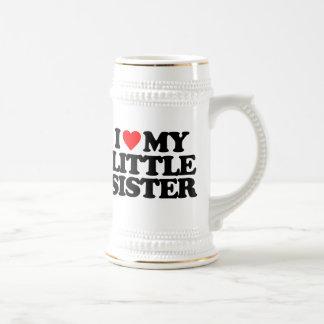 I LOVE MY LITTLE SISTER 18 OZ BEER STEIN