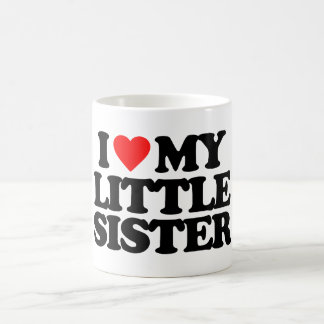 I LOVE MY LITTLE SISTER CLASSIC WHITE COFFEE MUG