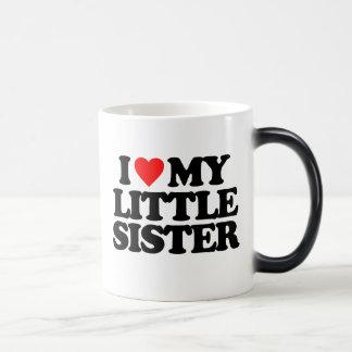 I LOVE MY LITTLE SISTER 11 OZ MAGIC HEAT Color-Changing COFFEE MUG