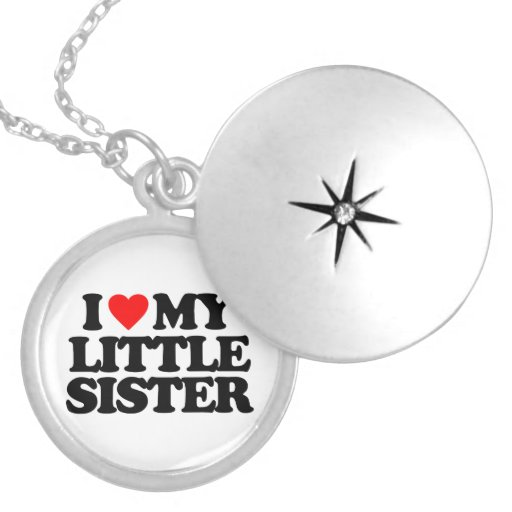 I LOVE MY LITTLE SISTER NECKLACES