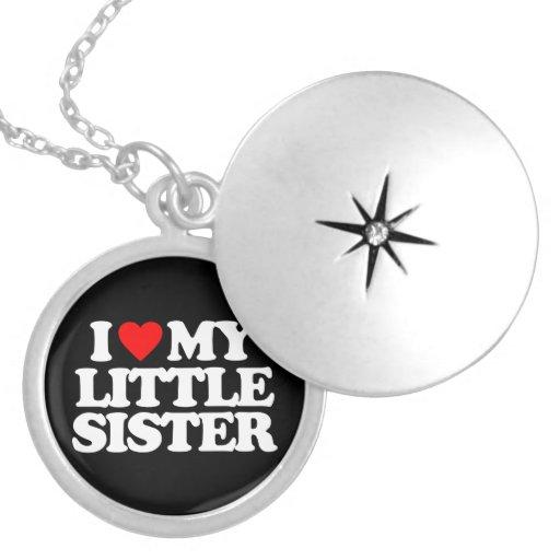 I LOVE MY LITTLE SISTER CUSTOM NECKLACE