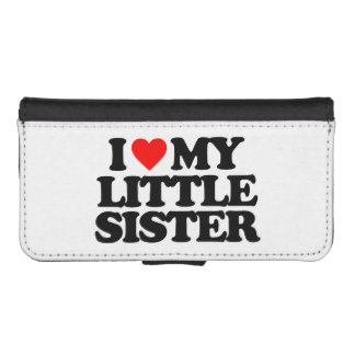 I LOVE MY LITTLE SISTER PHONE WALLET CASES
