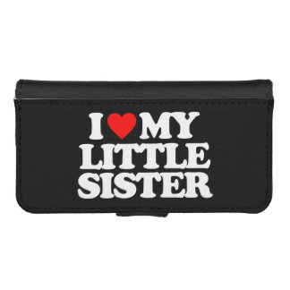 I LOVE MY LITTLE SISTER PHONE WALLETS