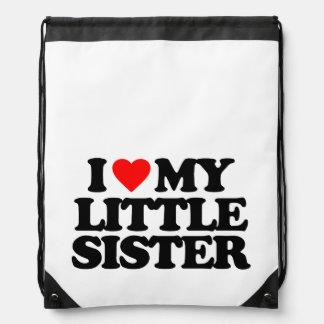 I LOVE MY LITTLE SISTER BACKPACKS