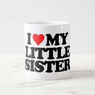 I LOVE MY LITTLE SISTER 20 OZ LARGE CERAMIC COFFEE MUG