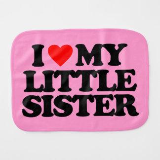 I LOVE MY LITTLE SISTER BABY BURP CLOTH