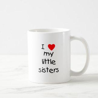 I Love My Little Sisters Coffee Mug