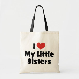 I Love My Little Sisters Tote Bag