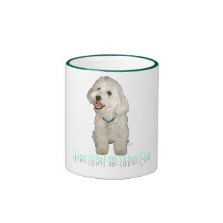 I Love My Little White Dog - Havanese Ringer Mug