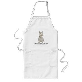 I Love My Little White Dog - Westie Long Apron