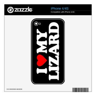 I LOVE MY LIZARD iPhone 4S SKINS