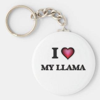 I Love My Llama Keychain