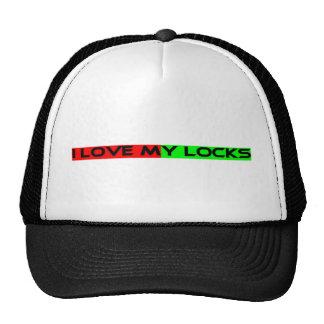 I LOVE MY LOCKS TRUCKER HAT