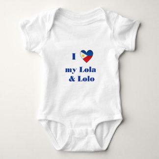 I Love My Lola and Lolo1 Baby Bodysuit