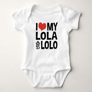 I Love My Lola and Lolo Baby Bodysuit