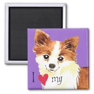 I Love my Long Coat Chihuahua Magnet