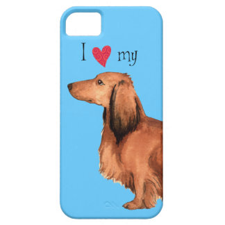 I Love my Longhaired Dachshund iPhone SE/5/5s Case