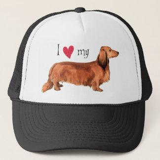I Love my Longhaired Dachshund Trucker Hat