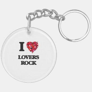 I Love My Love MyRS ROCK Double-Sided Round Acrylic Keychain