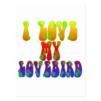 I Love My Lovebird Postcard