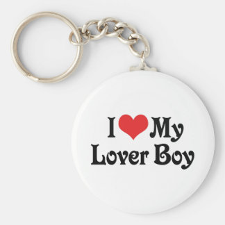 I Love My Lover Boy Keychain