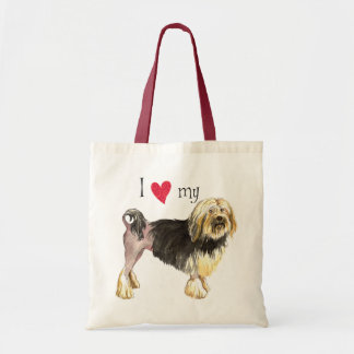 I Love my Lowchen Tote Bag