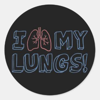 I Love My Lungs Classic Round Sticker