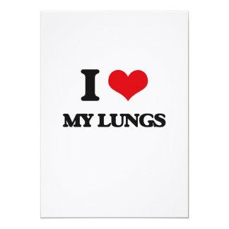 "I Love My Lungs 5"" X 7"" Invitation Card"
