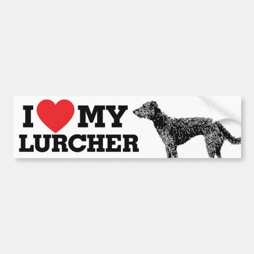 I love my Lurcher Bumper Stickers