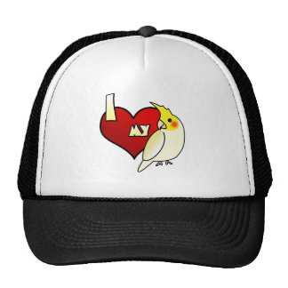 I Love my Lutino Cockatiel Trucker Hat