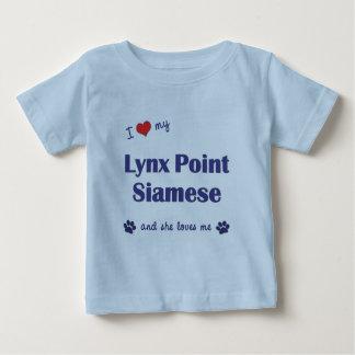 I Love My Lynx Point Siamese (Female Cat) Shirt