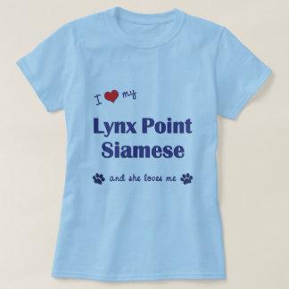 I Love My Lynx Point Siamese (Female Cat) Tee Shirt
